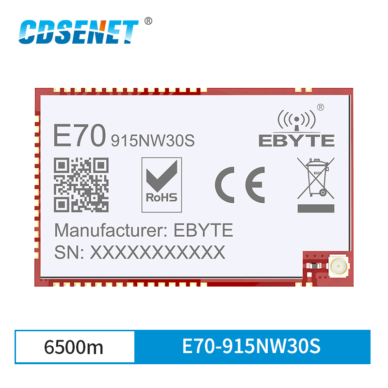 Ebyte E70-915NW30S Star Network Wireless Transceiver Module IoT 915MHz SMD 30dBm One-Master Multi-Slave Receiver