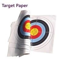 Papel de tiro con arco y flecha de 40x40cm 10 Uds.  papel de blanco de tiro con arco  impresión en Color de alta calidad  blanco de tiro con papel para práctica de competencia