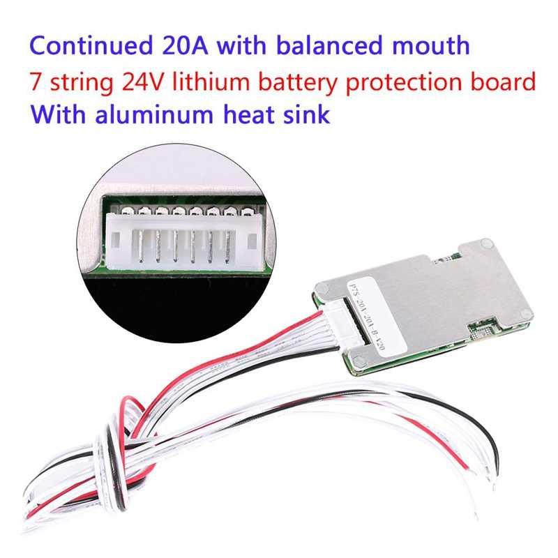 أعلى 7S 24V 20A ليثيوم ليثيوم أيون Lifepo4 18650 بطارية Bms Pcb Pcm لوح حماية مع التوازن ل E- الدراجة سكوتر كهربائي