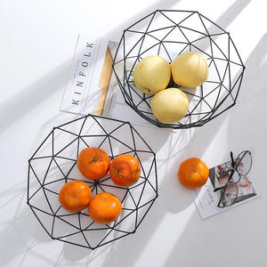 Bowl Container Wire-Basket Storage-Holder Snack-Tray Vegetable Fruit Kitchen Metal 1pc
