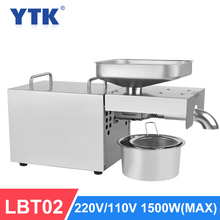 YTK LBT02 Automatic Cold Oil Press Machine High Extraction Rate Oil Extractor Peanut Coconut Olive Oil Press Machine