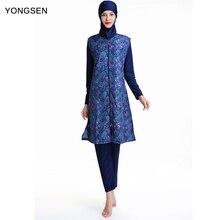 YONGSEN Plus Size Muslim Swimsuit Bikini islamic hijab Beachwear Modest Swimwear long sleeve Burkinis Islam Swim