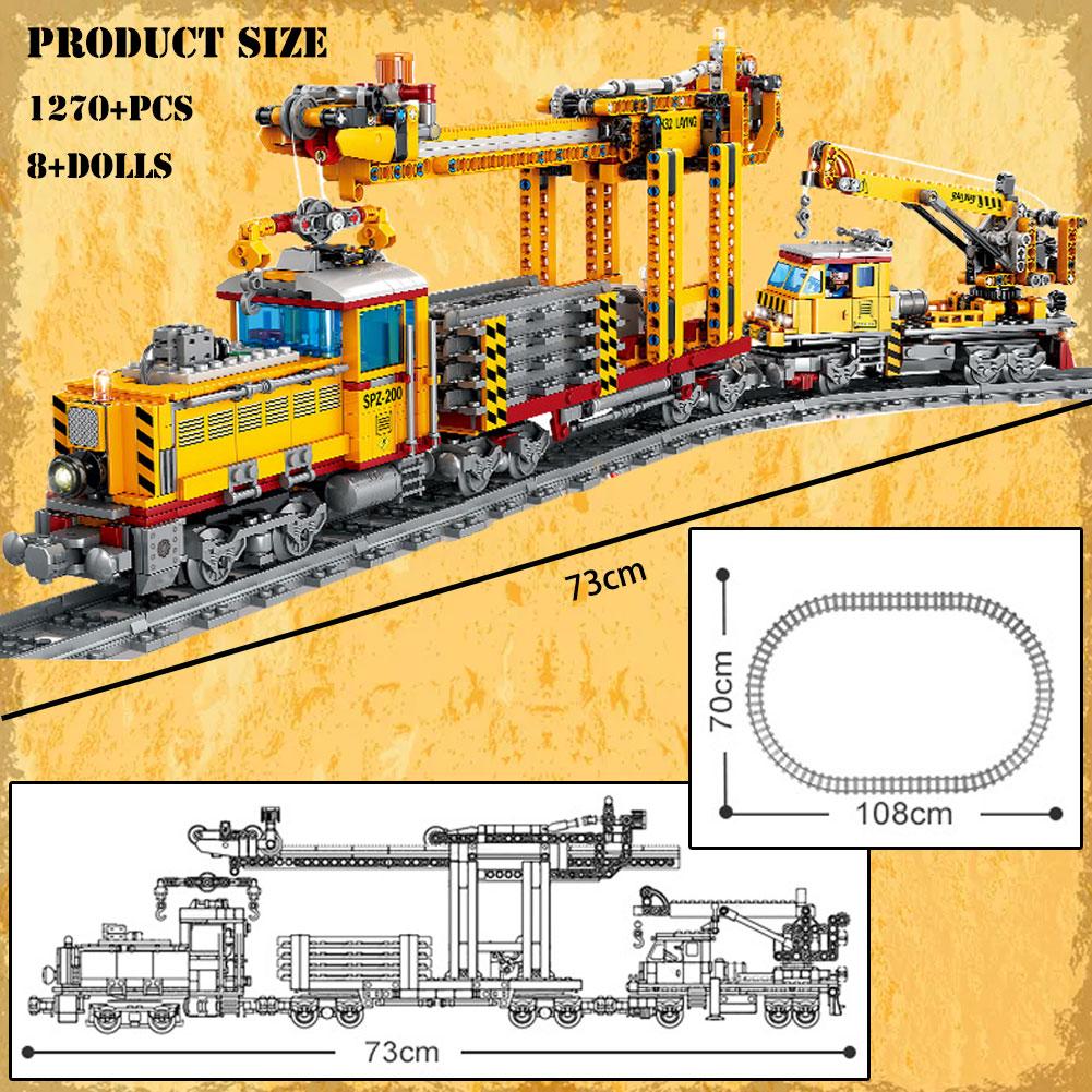 Конструктор Военный Электрический поезд BZDA, Высокоскоростная Модель железнодорожного поезда, кирпичи, пуленепробиваемая железная дорога, игрушка для детей