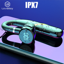 LOVEBAY Bluetooth Earpiece Wireless Bluetooth Headset Noise Cancelling Hands Free Earpiece Business Earphone Android For Workout