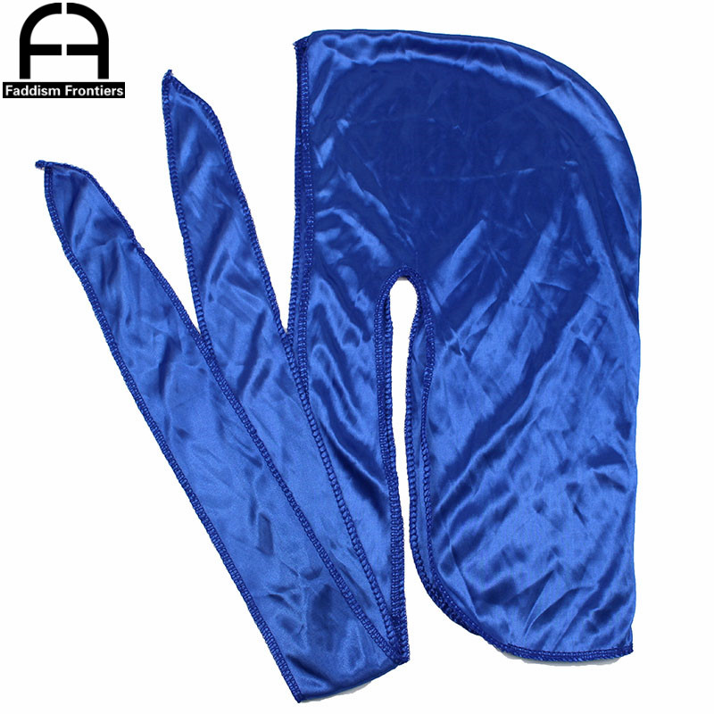 2595pcs Durag Wholesale Bandana Headwear For Men Long Tail Silky Durags Wave Cap