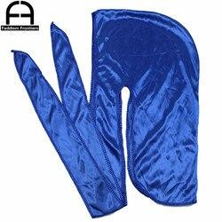 Durag-couvre-chef en forme de Bandana | 820 pièces, vente en gros, Bandana pour hommes, casquette soyeuse à longue queue