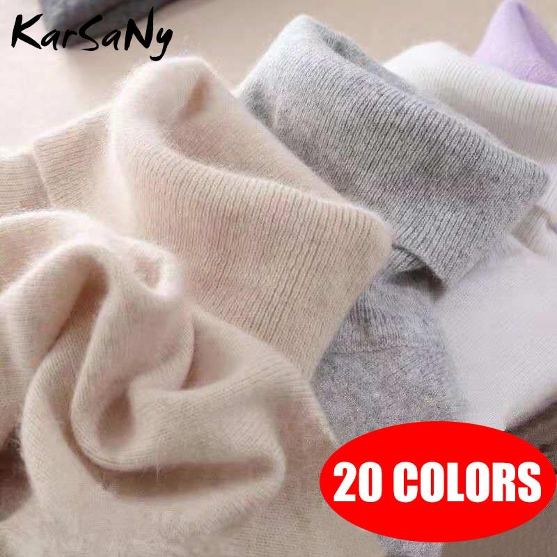 KarSaNy Turtleneck Sweater Female Plus Size Sweaters Women Autumn Winter High Collar Wool Sweater Turtleneck For Women Jumper