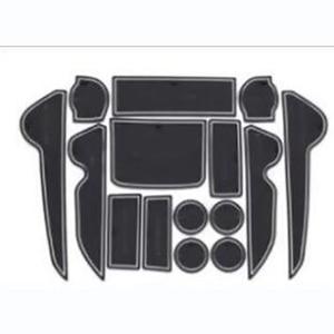 15PCS Rubber Non-Slip Interior Door Mat For Toyota Land Cruiser V8 LC 200 2008-2018 Accessories(China)