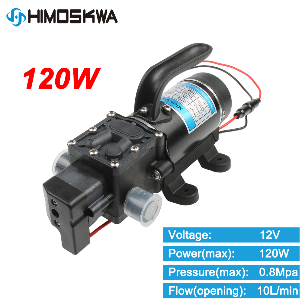 120W Electric High Pressure Water Pump 12V 24V 10/min Water Film Pump