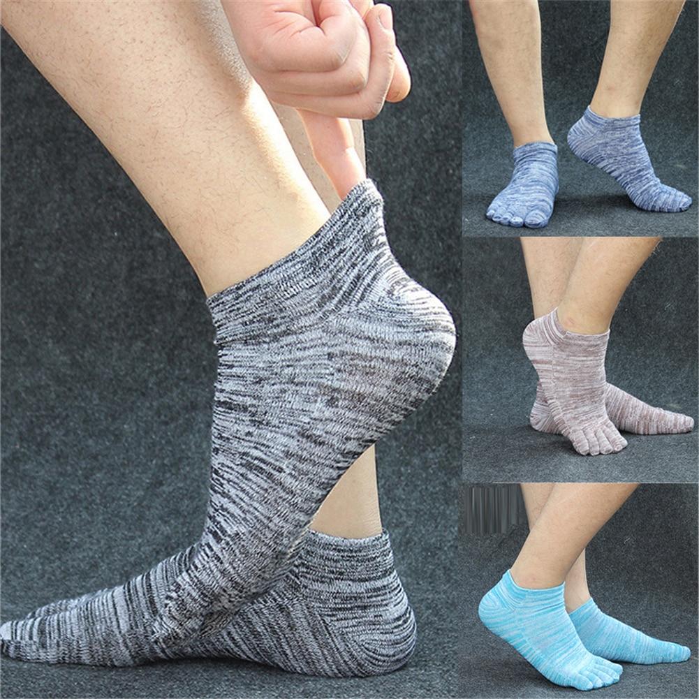 New 5 Colors Men Cotton Socks Summer Five Finger Socks For Men Fashion Toe Socks Breathable Sports Deodorize Short Ankle Socks