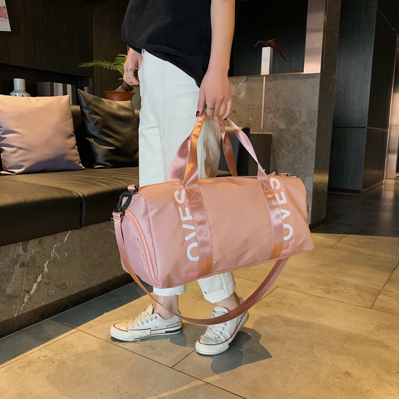 Wholesale Large Capacity Travel Bag Gym Training Package Strap Shoes Bit Yoga Bag Wet And Dry Swimming Pool Customizable Logo