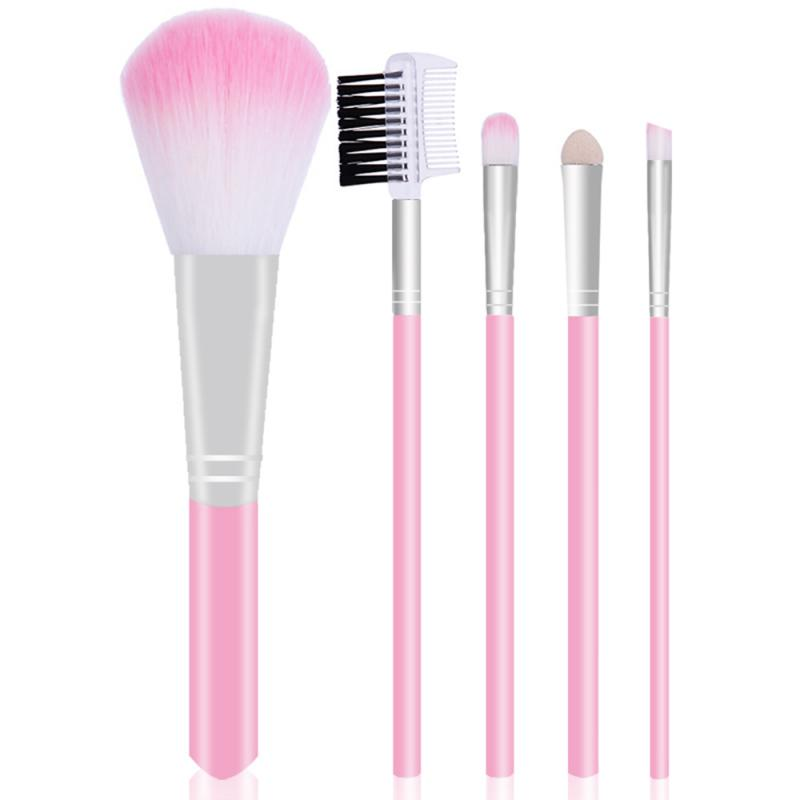 5pcs Makeup Brushes Set Eye Shadow Blush Lip Brush Women Beauty Glitter Cosmetic Make Up Brush Tools Accessories Maquiagem