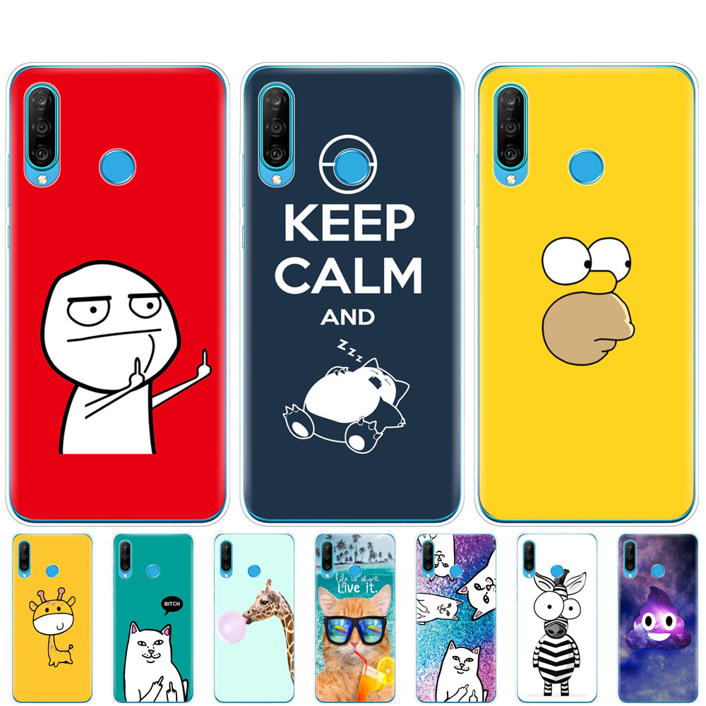 <font><b>silicon</b></font> <font><b>case</b></font> for <font><b>HONOR</b></font> 20 lite view 30 v 30 pro cover for huawei <font><b>honor</b></font> 20S 9A 9C 9S 9X Premium <font><b>7s</b></font> 8a funny cute fashion design image