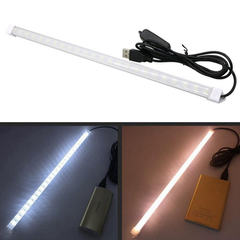 DC5V USB LED Bar Light with Switch LED Strip Light SMD5630 10/20/35/40/50CM LED Rigid Strip Night Market Light 7/15/24/28/36LEDs 1