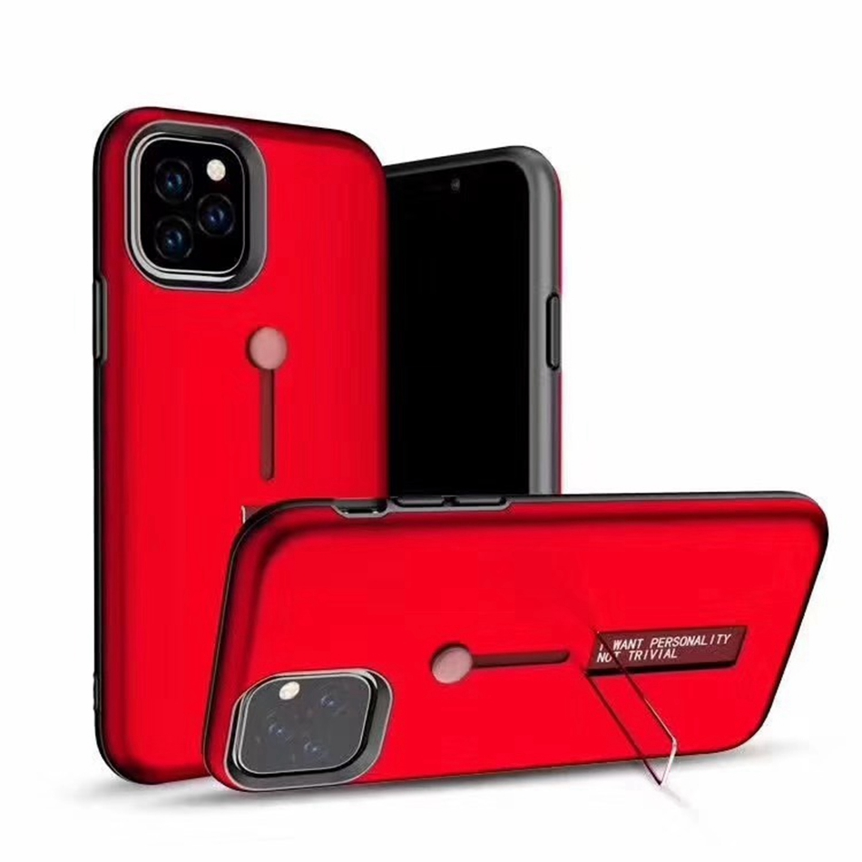 2 In 1 <font><b>Ring</b></font> Stand Holder <font><b>Phone</b></font> <font><b>Case</b></font> For iPhone 11 Pro XS Max <font><b>Case</b></font> Fold Open Finger <font><b>Loop</b></font> Cover For iPhone 11 6 7 8 Plus XR X Etui image