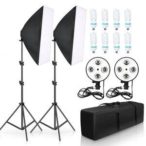 Photo Studio Kit 8 Pieces LED Bulbs 20W