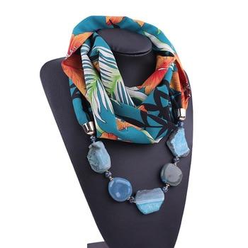 2020 NEW Arrival Jewelry Statement Necklace Pendant Scarf Women Bohemia styel Neckerchief Foulard Femme Accessories Hijab Stores - discount item  30% OFF Scarves & Wraps