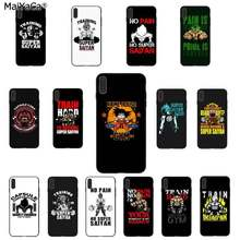 Maiyaca Geen Pijn Geen Super Saiyan Kame House Gym Dragon Ball Z Goku Telefoon Case Voor Iphone 11 Pro 8 7 66S Plus X Xs Max 5S Se Xr(China)