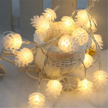 Merry Christmas Decorations for Home Warm White Pine Cone String Light Lamp Navidad 2020 New Year Decor 2021 Xmas Ornament Gift