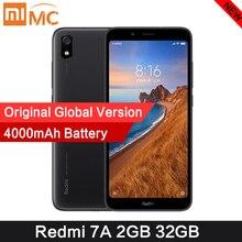 "Original Xiaomi Redmi 7A 2GB 32GB สมาร์ทโฟน Snapdargon 439 OCTA Core 5.45 ""HD 4000mAh แบตเตอรี่ยาวสแตนด์บายโทรศัพท์มือถือ"