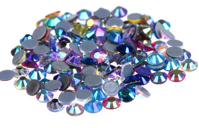 Все размеры 40 цветов кристалл AB исправление стразы, Стекло Стразы исправленное железо на Стразы для дизайна ногтей шитье и ткань Decoretion - Цвет: mix AB colors
