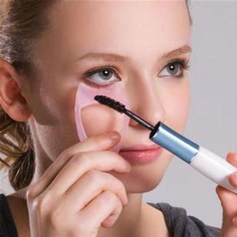 Eyelash Tools 3 in 1 Makeup Mascara Shield Guard Curler Applicator Comb Guide Card Makeup Tool Beauty Cosmetic Tool Dropship