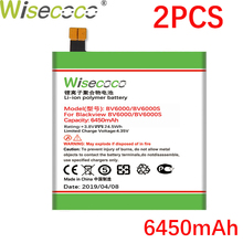 Wisecoco BV6000 2PCS 6450mAh New Powerful Battery For Blackview BV6000S Phone Replacement + Tracking Number