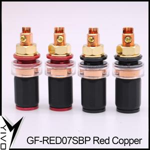 Image 5 - 4pcs 8pcs XSSH Audio HIFI Real Red copper Banana Plug Female Socket Speaker power amplifier terminal Long Short Binding Post