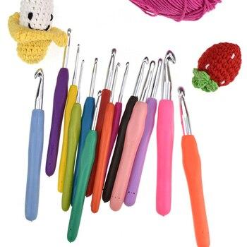 Многоцветные спицы 2-10 мм мягкая ручка эргономичная ручка Пряжа Вязание крючком иглы ткачество крючком крюковые иглы инструменты для изготовления подарка «сделай сам»