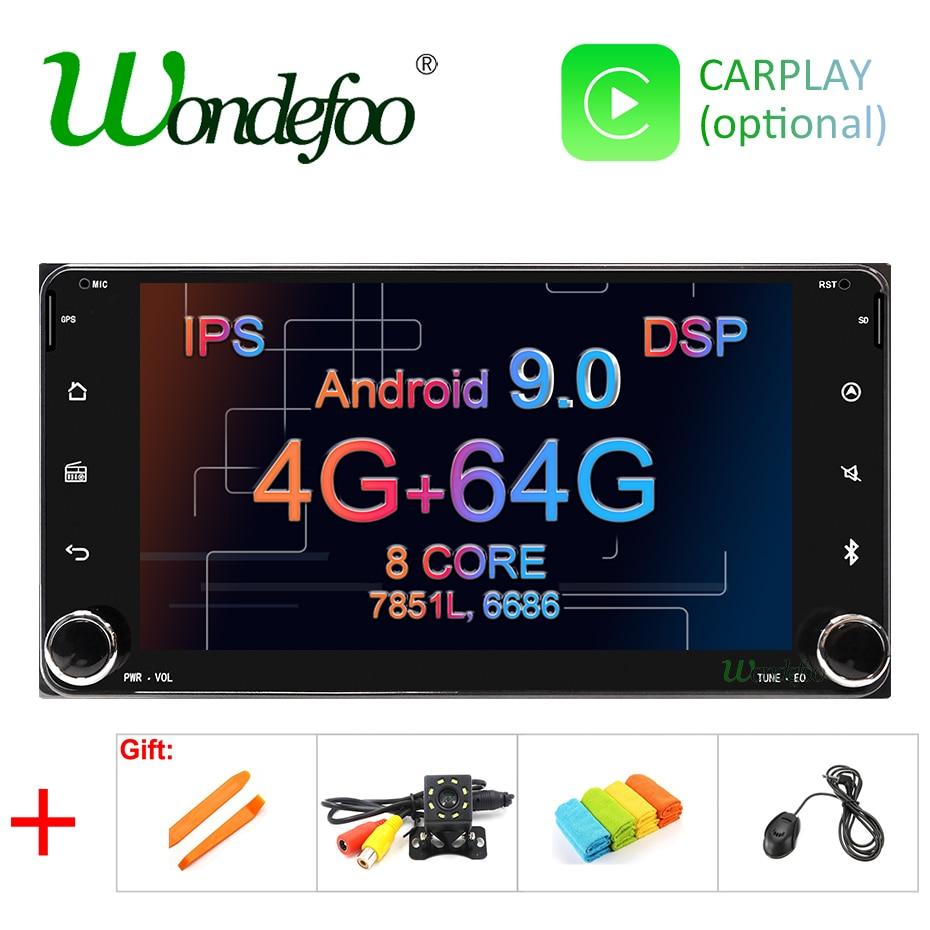 2 DIN Android 9.0 car radio For Toyota Universal RAV4 COROLLA VIOS HILUX Terios PRADO 2DIN car stereo autoradio navigation audio(China)