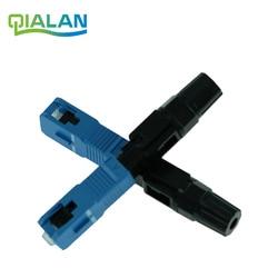 Sc upc conector rápido ftth conectores ópticos encaixados conector ftth ferramenta fibra fria conector rápido upc