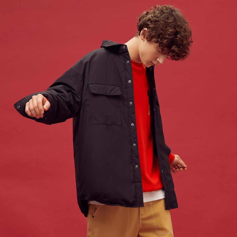 Metersbonwe 2020 새로운 두꺼운 다운 재킷 남자 겨울 따뜻한 90% 회색 오리 코트 남자 Windproof 캐주얼 의류 야외 다운 코트