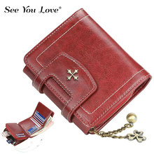 цена Vintage Small Purse Ladies Wallet Woman Luxury Brand 2019 New Retro Mini Zipper Leather Purses Female Wallets Women Card Holder