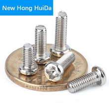 M2 M2.5 M3 M4 Steel Nickel Plated Phillips Cross Recessed Pan Head Machine Screw Metric Thread Iron Round Head Bolt m2 m2 5 m3 m4 phillips cross recessed pan head machine screw iron metric thread round head bolt black steel