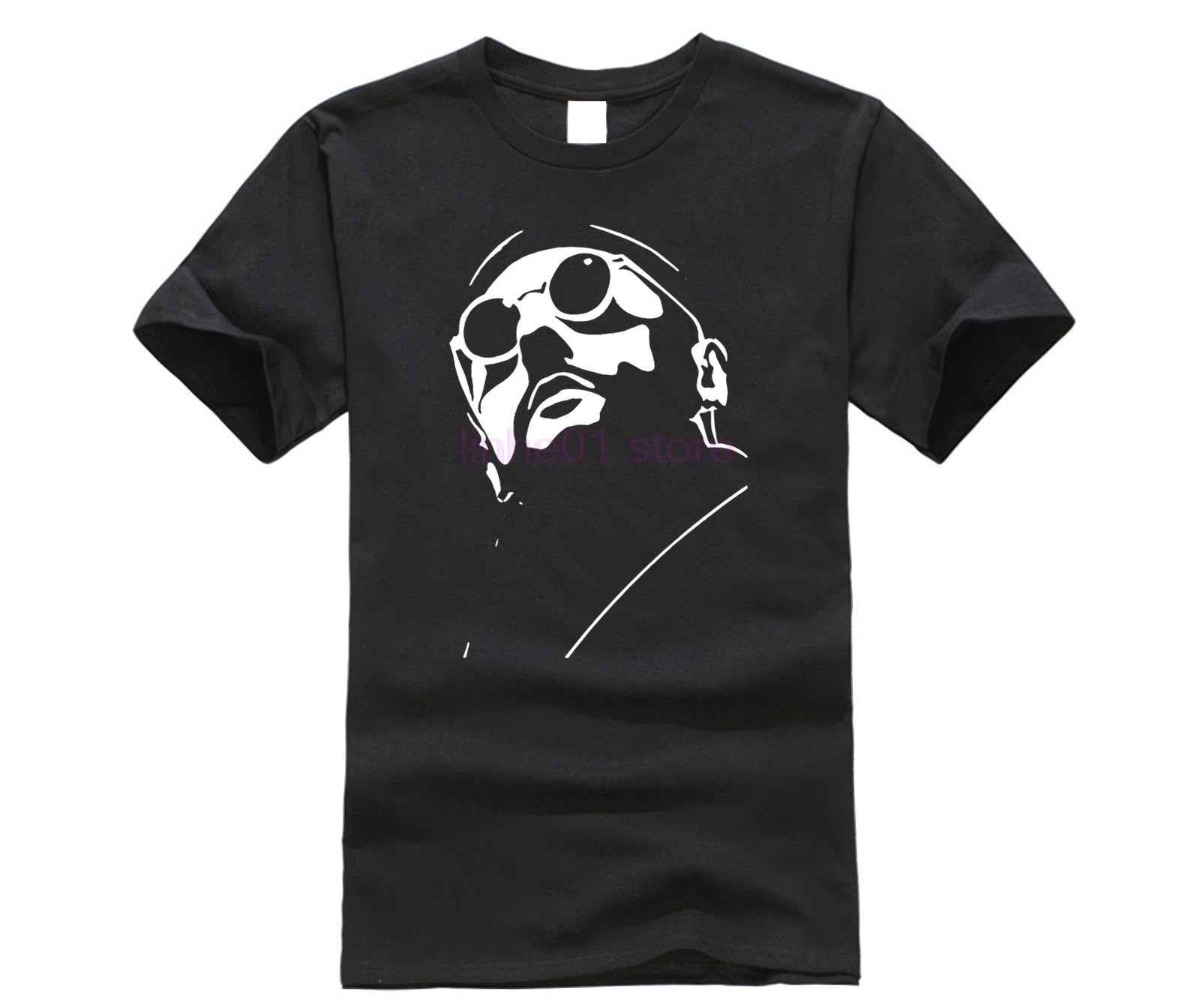 O Neck Tops Tee Shirts Leon The Proffessional French Movie Hitman Fan T Shirt image