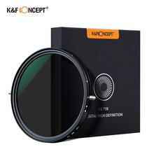 цена на K&F Concept 67mm 77mm 82mm Variable Fader ND2-ND32 ND Filter and CPL Circular Polarizing Filter 2 in 1 for Camera Lens No X Spot