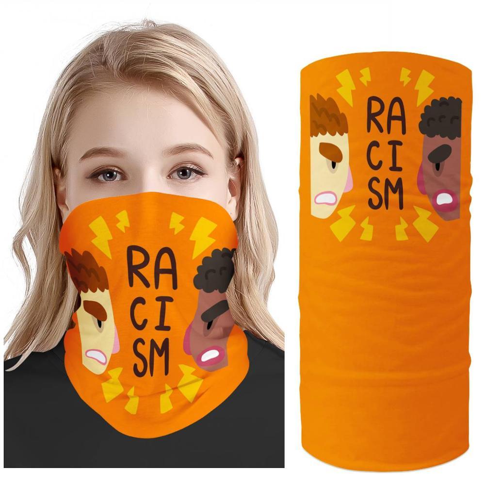 "customizable headscarf wild ""no racism"" slogan  sunscreen muffler towel  neck set riding headscarf shawlneckerchief Face protect"