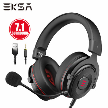 EKSA Gamer Headset 7.1 Surround Sound Gaming Headphon E900 PRO Wired Game Headphones For PC/Xbox/PS4 with Noise-cancelling Mic eksa gamer headset 7 1 surround sound gaming headphon e900 pro wired game headphones for pc xbox ps4 with noise cancelling mic