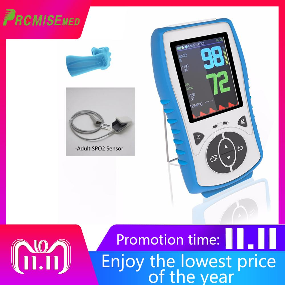Adult Sensor Handheld Pulse Oximeter With Temperature Probe Blood Oxygen Monitor,2.8 LCD,Pulse Oximetro CE Approval