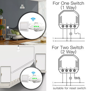 Image 4 - DIY WiFi Smart LED Dimmer Light Switch Universal Breaker Smart Life/Tuya APP Remote Control Works with Alexa Google Home