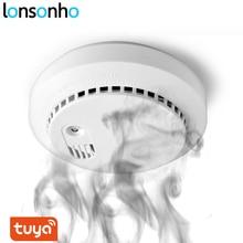 Lonsonho tuya smartlife wi fi detector de monóxido carbono co sensor fumaça casa inteligente segurança automação residencial inteligente