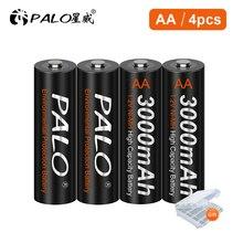 Pilas AA recargables para cámara, 2 uds., 1,2 V, NI MH, AA, 3000mAh