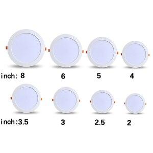 Image 3 - LED ダウンライト 3 ワット 5 ワット 7 ワット 9 ワット 12 ワット 15 ワット 18 ワット 24 ワット 30 ワット AC 220 220v 防水天井ランプウォームホワイトコールドホワイト凹型 LED ランプスポットライト