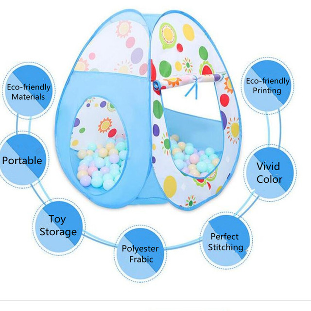 Baby Ball Pool Boys Girls Kids Ball Pit Playground Game Playhouse Activity Game Dry Pool Toy for Children Indoor Tents