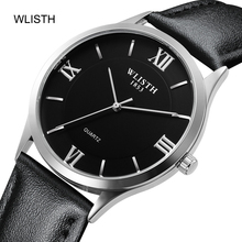 Men's luxury fashion business casual 30 meters water resistant waterproof leather belt alloy case quartz movement wrist watch все цены