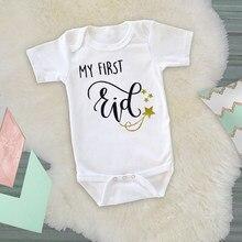 Mono de manga corta para bebé, Caasual Pelele con estampado de letras, ropa para recién nacido, regalos para recién nacido, novedad de 2020