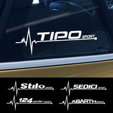Наклейка на боковое окно автомобиля Fiat 124SPIDER ABARTH ALBEA CRONOS MOBI SEDICI STILO TIPO TORO UNO, 2 шт., автомобильные аксессуары, Виниловая наклейка
