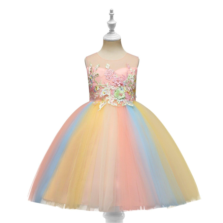 Europe And America CHILDREN'S Dress Princess Dress Children Dress Girls Host Catwalks Performance Wear Skirt
