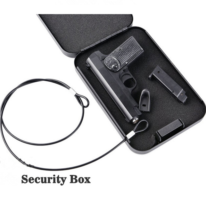Gun Safe Box  Ammo Metal Case Safes  Lock Box  Ammo Can  Safebox  Keybox Portable Strongbox Boxes Safety Security Key Money Car