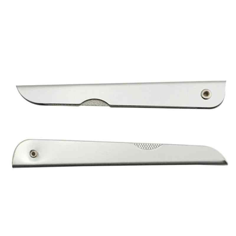 1 pc arquivo de unhas metal dupla face dobra haste moagem manicure esfoliação profissional de aço inoxidável unhas artes ferramentas beleza unhas arquivos